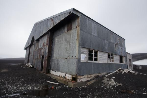 Picture of Deception Island (Antarctica): Hangar at Deception Island