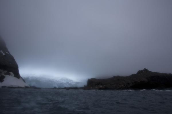Picture of Distant view of Point Wild; on the left, the spot where the crew waited, in the background, the glacierElephant Island - Antarctica