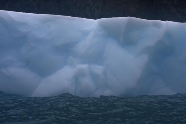 Close-up of small tabular iceberg floating in the sea at Point Wild | Point Wild | Antarctica