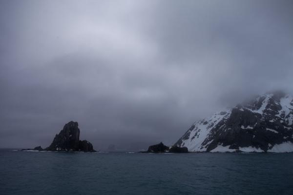 Picture of Rock and snowy mountains at Point WildElephant Island - Antarctica