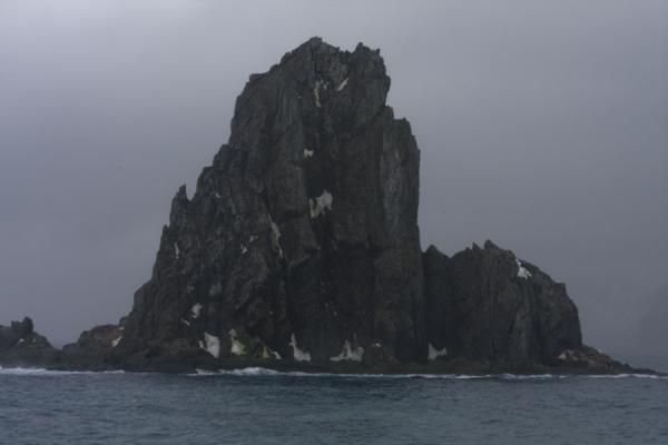 Picture of Rocky island with chinstrap penguins at Point Wild
