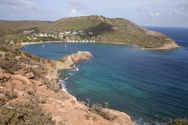 Foto van View of the entrance of English Harbour with Fort BerkeleyEnglish Harbour - Antigua en Barbuda