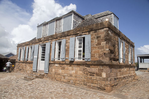 Turned into a restaurant, this is also a British-era building at Shirley Heights | English Harbour | Antigua and Barbuda