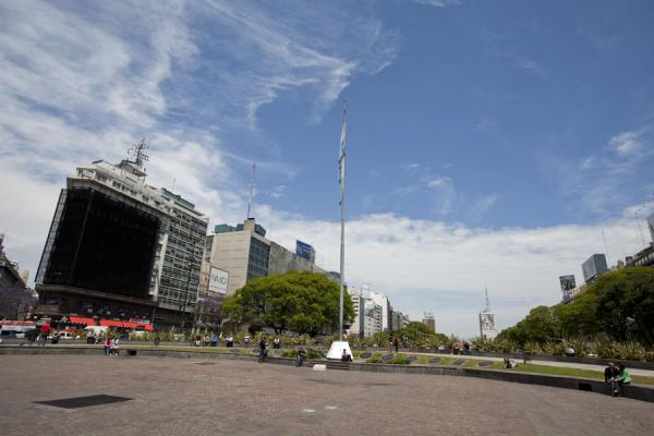 Picture of Avenida 9 de julio (Argentina): Looking north from the Plaza de la República in the middle of Avenida 9 de Julio