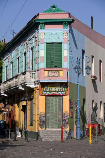 Picture of Colourful building at the corner of Caminito