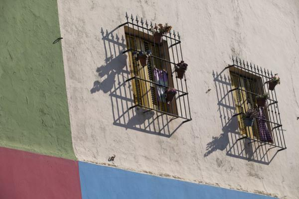 Windows on painted walls | Caminito | Argentina