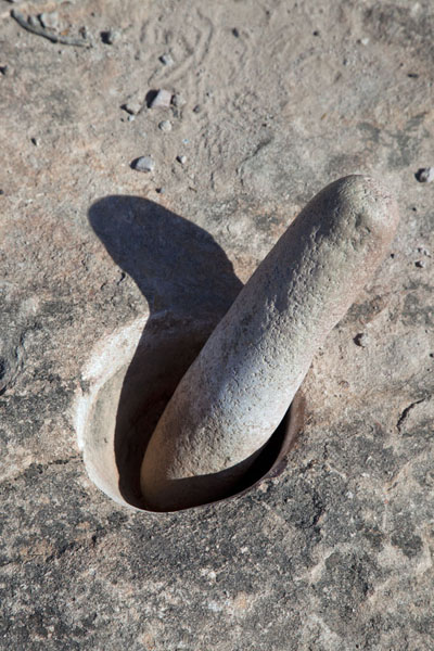Tool in manmade bowl in a rock at El Chiflón | El Chiflón | Argentina