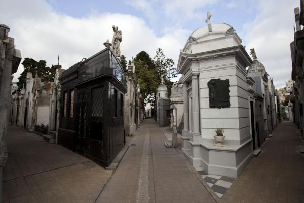 Picture of La Recoleta Cemetery (Argentina): Alleys with mausoleums in La Recoleta cemetery