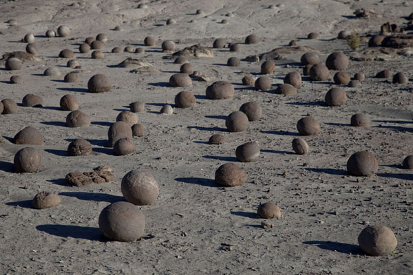 The Cancha de Bochas, a weird collection of perfect balls shaped by nature | Parque Ischigualasto | Argentina