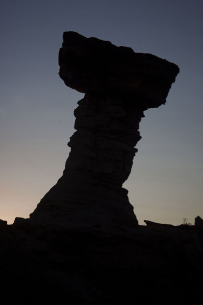 Picture of Silhouet of El Hongo at duskParque Ischigualasto - Argentina