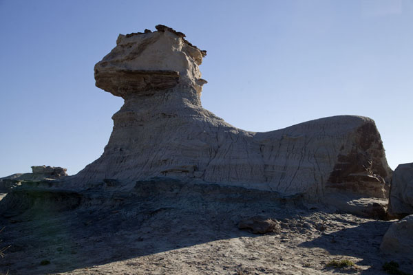 A rock formation looking like a sphinx in the Valley of the Moon | Parque Ischigualasto | Argentina