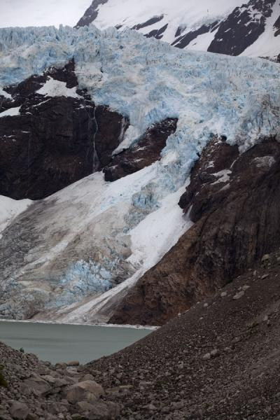 Picture of Piedras Blancas glaciar and its lake