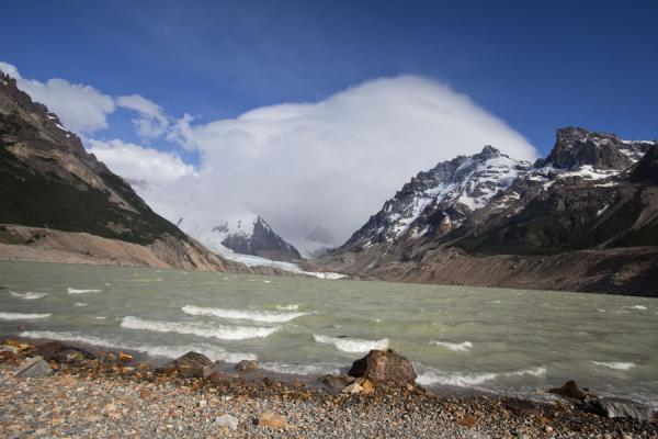Picture of Parque Nacional Glaciares (Argentina): Winds pushing waves at Laguna Torre