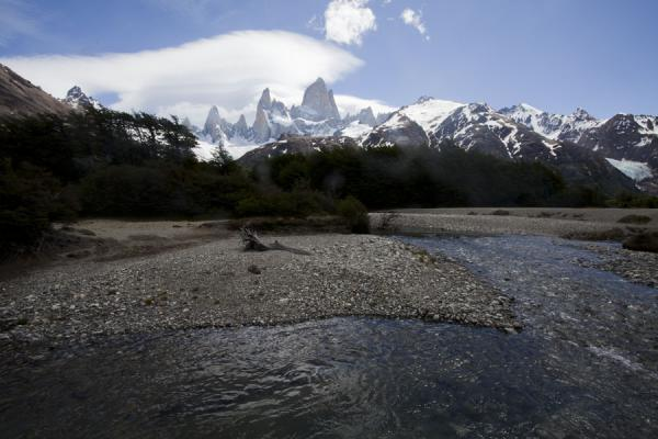 Río Blanco with Fitzroy range in the background | Parque Nacional Glaciares | Argentinië