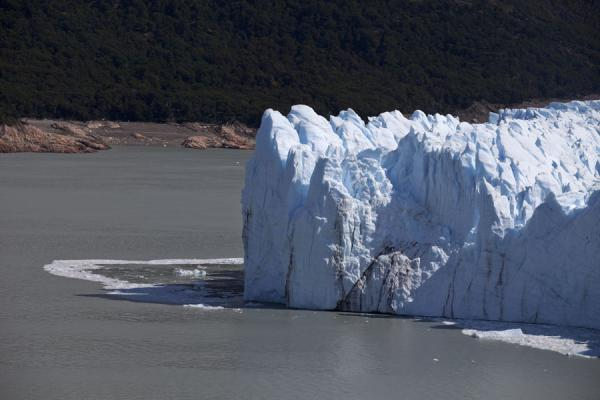The southern face of Perito Moreno with ice floating in Lago Argentino | Perito Moreno Glacier | Argentina