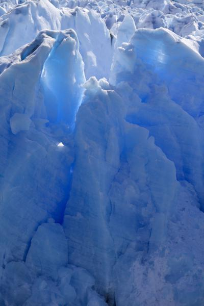 Close-up of the blue ice of Perito Moreno | Perito Moreno Glacier | Argentina