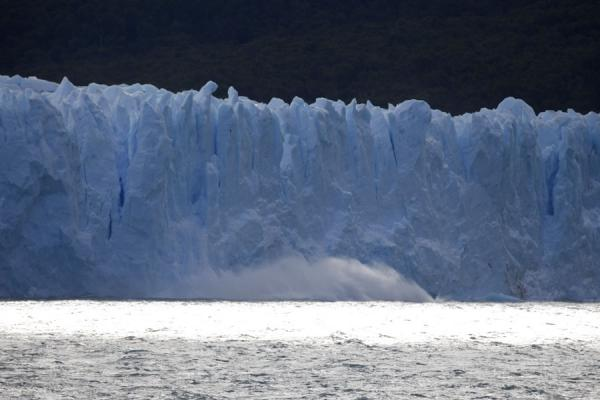 Ice falling into Lago Argentino off the face of Perito Moreno | Perito Moreno Glacier | Argentina