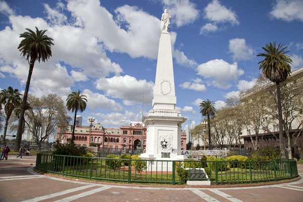 Picture of Looking east towards Pirámide de Mayo and Casa Rosada across Plaza de MayoBuenos Aires - Argentina