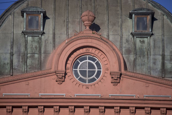 Detail of the roof of the Casa Rosada | Plaza de Mayo | Argentina