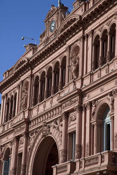 Side view of the Casa Rosada, on the eastern side of the square | Plaza de Mayo | Argentina