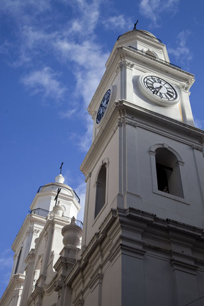 Picture of Looking up the bell towers of the metropolitan cathedralBuenos Aires - Argentina