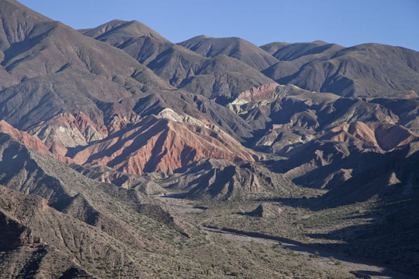 Picture of Quebrada de Humahuaca (Argentina): The colourful mountains seen in the morning at Tilcara