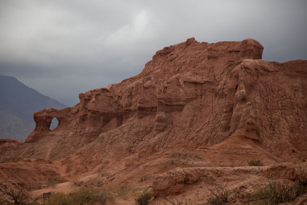 The Ventanas rock formation under a dark sky | Quebrada de las Conchas | Argentina