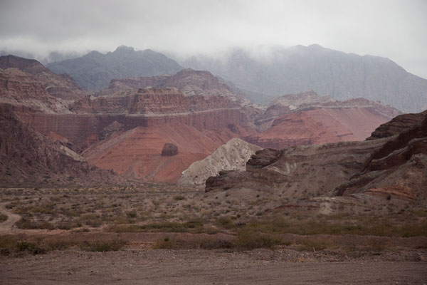 The multicoloured mountains in the Quebrada de las Conchas | Quebrada de las Conchas | Argentina