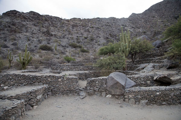 Dwellings were half-buried in the ground and constructed with widely available rocks | Rovine di Quilmes | Argentina