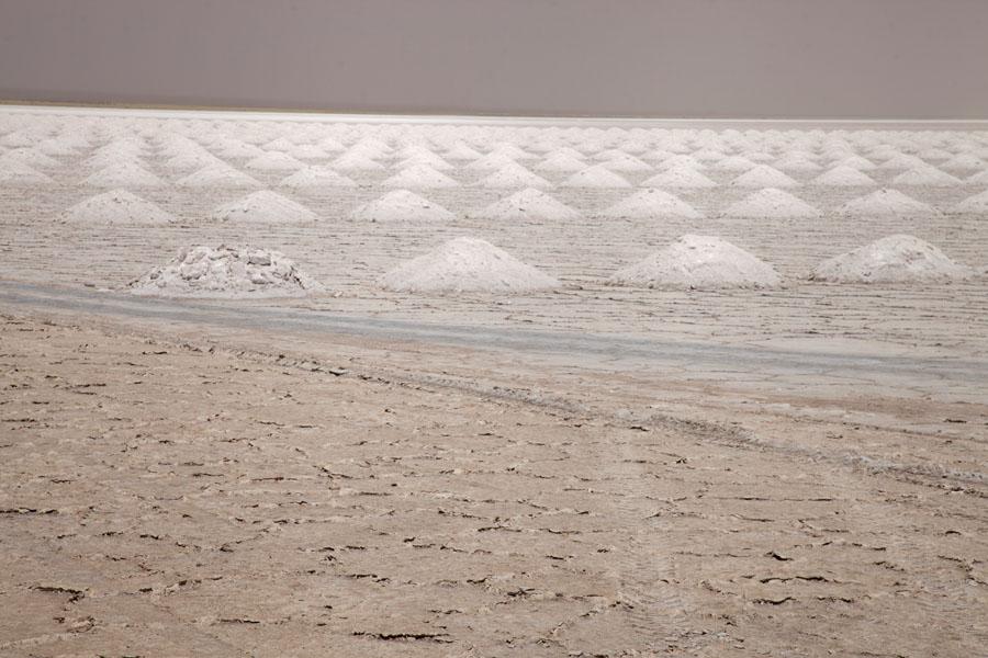 Mounds of salt on Salinas Grandes | Salinas Grandes | Argentina