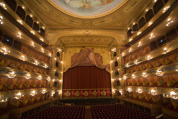 Picture of Teatro Colón (Argentina): The theatre itself: view of the stage and balconies of Teatro Colón