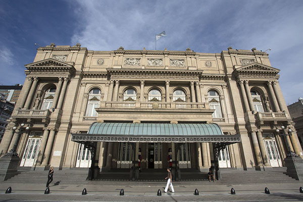 Picture of Frontal view of Teatro Colón with main entrance on Libertad Street