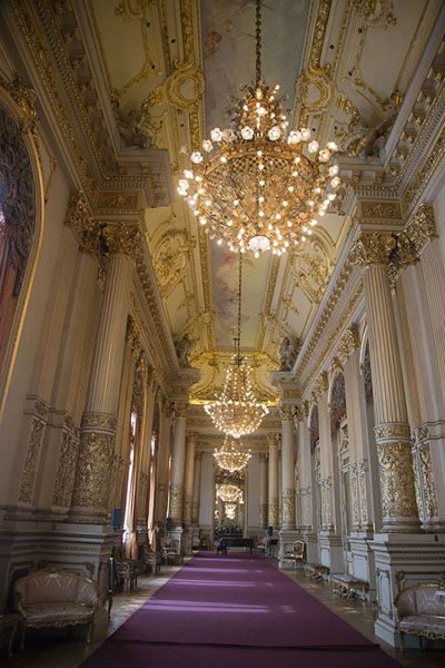 Foto van The Golden Hall with its lush appearanceTeatro Colón - Argentinië