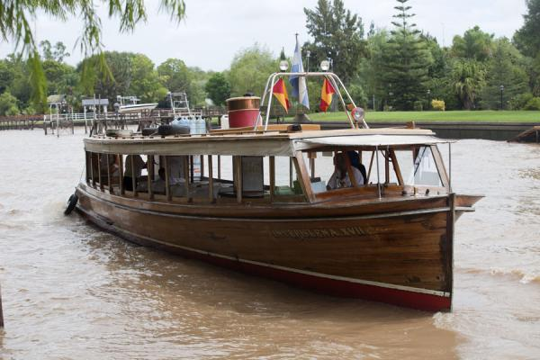 Picture of Transportation in the Paraná delta is often provided by these wooden boats