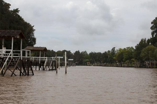 Picture of Tigre Paraná Delta (Argentina): Sarmiento river in the Paraná delta with wooden stairs
