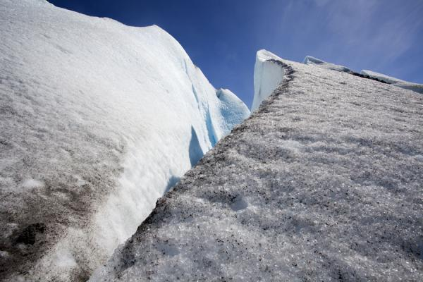 Looking up pinnacles of ice on Viedma Glacier | Viedma Glacier | Argentina