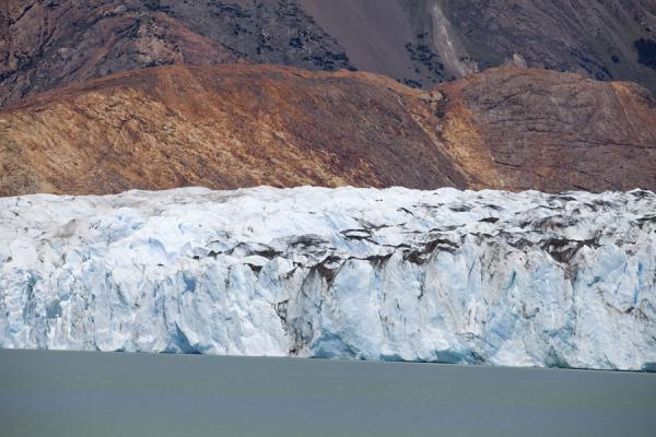 Picture of Viedma Glacier (Argentina): Brown rocks as a backdrop to the Viedma Glacier face