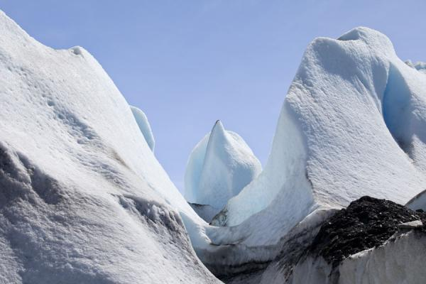 Picture of Viedma Glacier (Argentina): White towers of ice at the surface of Viedma Glacier