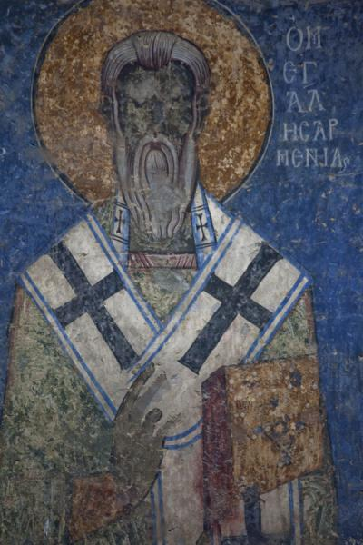One of the apostles depicted in the apse of the Mother of God church at Akhtala | Monasterio de Akhtala  | Armenia