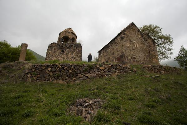Picture of Ardvi (Armenia): View of Monastery of St. John with caretaker