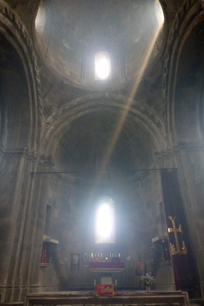 Ray of light falling into the Cathedral of St. John the Baptist | Gandzasar Monastery | Armenia