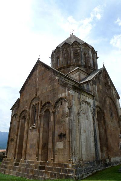Picture of Gandzasar Monastery (Armenia): Gandzasar Monastery on a hilltop above Vank