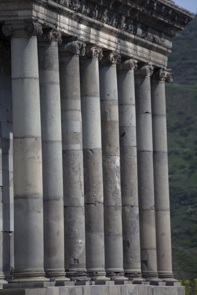 Row of columns at the temple of Garni | Garni temple | Armenia