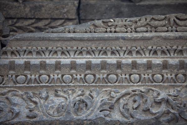 Close-up of the frieze of the temple of Garni | Garni temple | Armenia