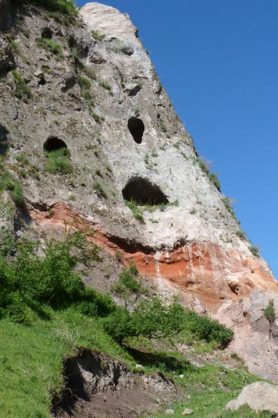 Rock face with cave dwellings just outside Goris | Goris cave dwellings | Armenia