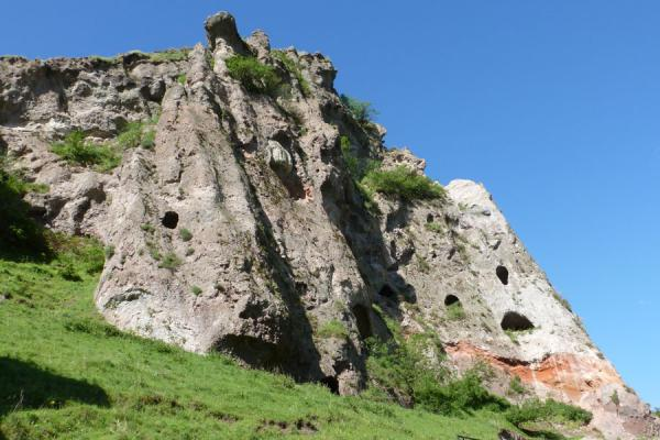 Picture of Goris cave dwellings (Armenia): Hillside with cave dwellings visible in the rocks