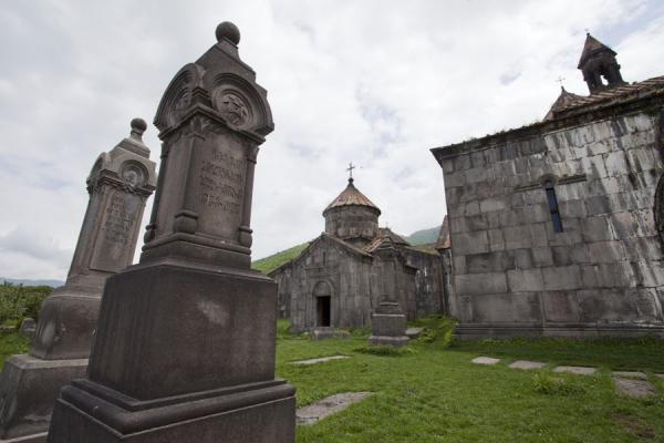 Tombstones and buildings inside the Haghpat Monastery complex | Haghpat monastery | Armenia