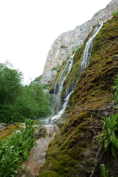 Zontik waterfall is one of the sights along the trail through Karkar canyon | Karkar gorge hike | Armenia