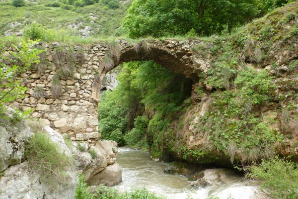 Old bridge spanning Karkar river near Mkhitarishen village | Karkar gorge hike | Armenia