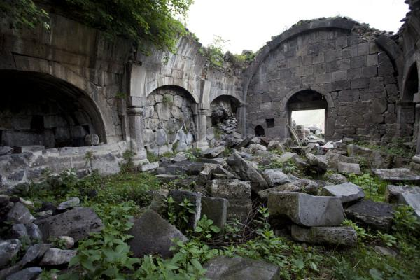 Picture of Kobayr Monastery (Armenia): Inside one of the crumbling buildings of Kobayr Monastery